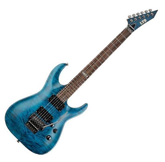 Guitarra Esp Ltd Mh 100 Qm Stb Toke Musical