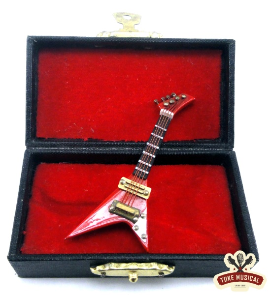 Mini Guitarra 7cm Fly Vermelha Bado
